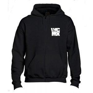"""""""WCMX"""" Black Zip Hood"""