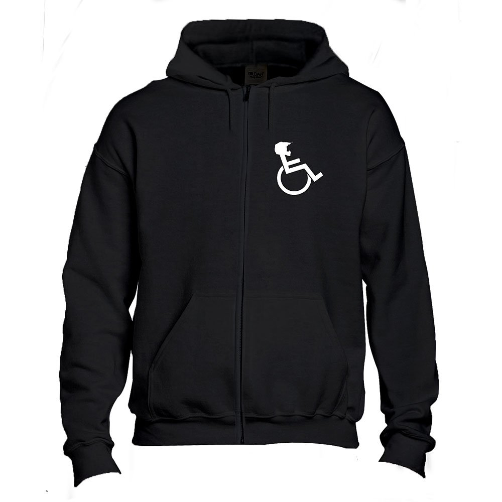 """WHEELZ"" Black Zip Hooded"