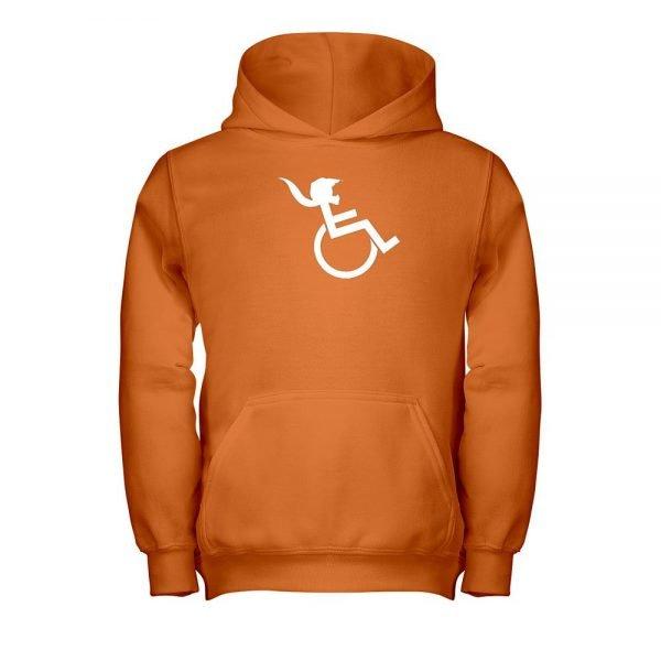 PONY TAIL Orange Hooded