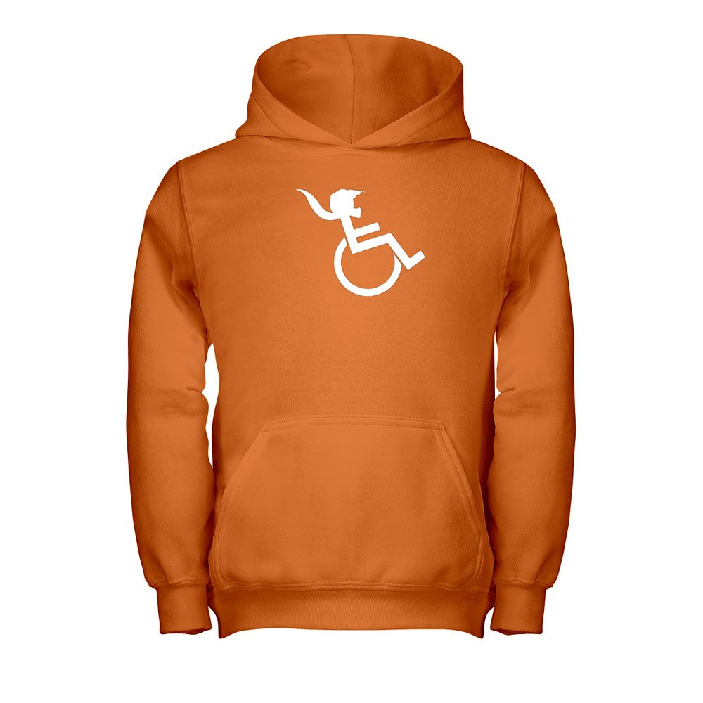 PONY TAIL Orange Hooded