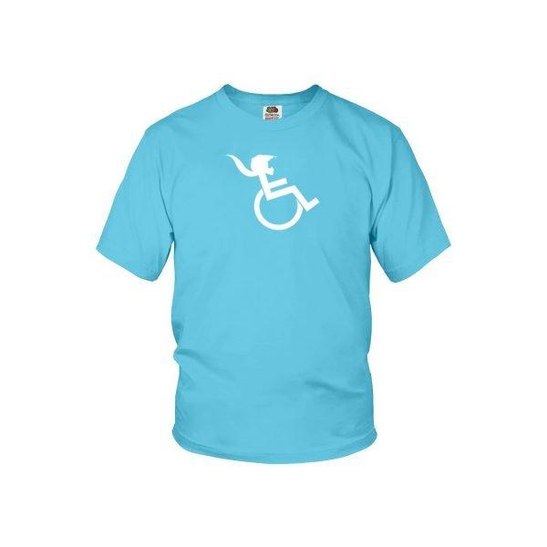 """PONY TAIL"" Aquatic Blue Youth T-shirt"