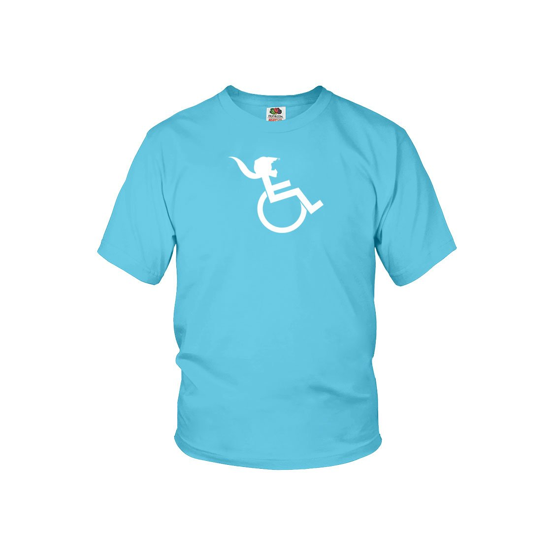 """PONY TAIL"" Aquatic Blue Youth T-shirt"
