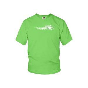 """""""WHEELZ LONG FLAME"""" Kiwi Youth T-shirt"""
