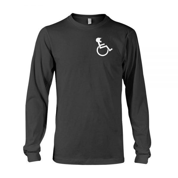 """WHEELZ"" Black Longsleeve T-shirt"