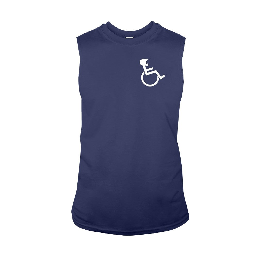 """WHEELZ"" Sleeveless Navy T-shirt"
