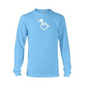 PONY TAIL Womens Carolina Blue Longsleeve T-shirt