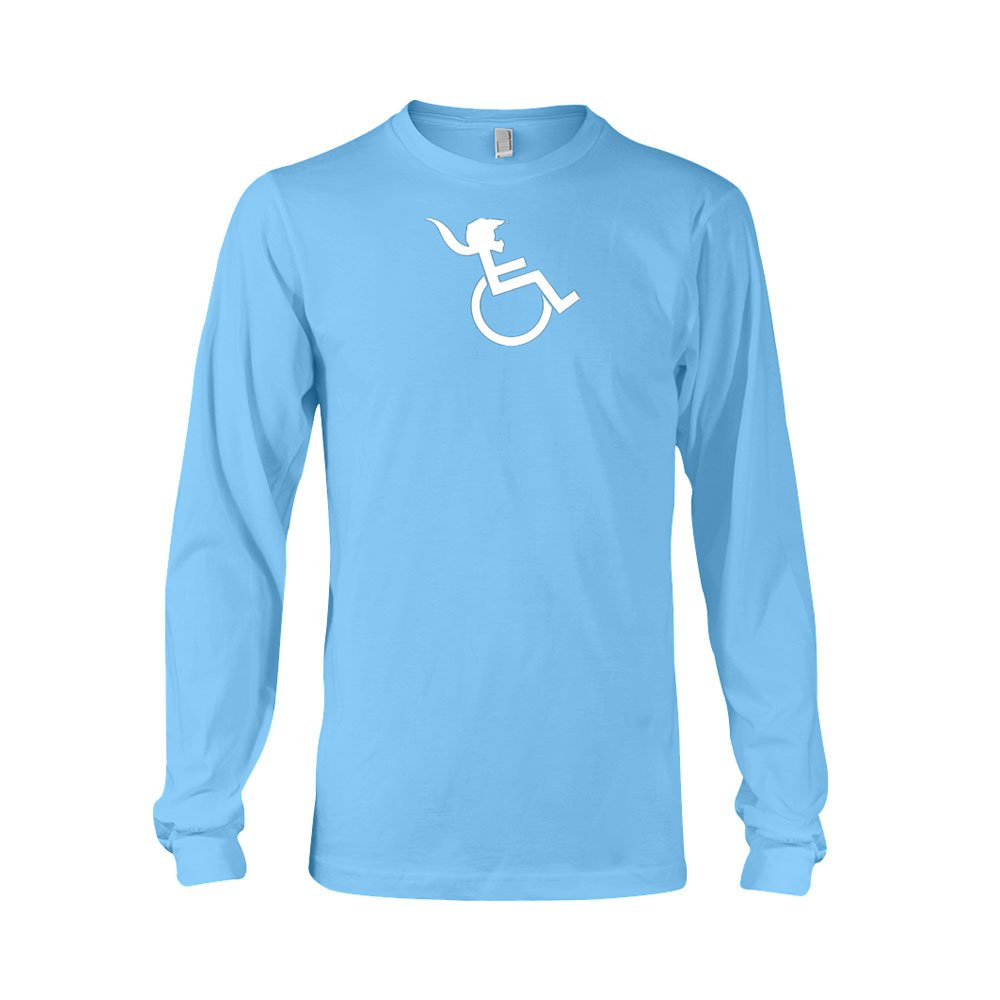 PONY TAIL Womens Carolina Blue Longsleeve T-shirt