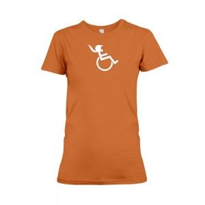 PONY TAIL Womens Orange T-shirt